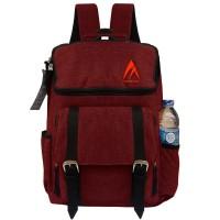 Tas Korea MG06 Tas Ransel Korea Tas Pria/Wanita Tas Backpack - Red