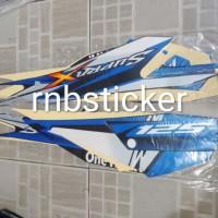 stiker striping stripping motor honda Supra X 125 2013 biru