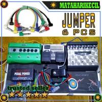 BARU Kabel Jack Jumper L Pedal Efek Stompbox Gitar 6 pc ZOR9