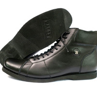 Sepatu Pria Bally Boots Kulit Sapi Asli Warna Hitam