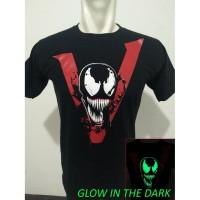 Kaos Baju Distro VENOM Movie Kaos Superhero Glow in the dark
