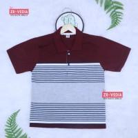 Kerah Salur T-Shirt Anak Laki uk 3-5 Tahun / Kaos Salur Baju Adem