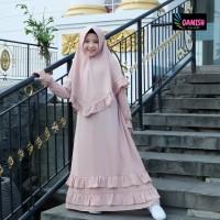 Gamis Anak Syari Baju muslim anak perempuan set hijab Gamis anak Putih