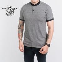 Baju Kaos Polo Shirt Pria / Polos / Kerah Shanghai / Grey Slimfit