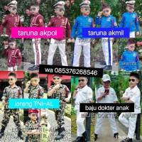 baju taruna akpol akmil/baju dokter anak/loreng TNI-al/kostum anak