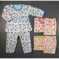Setelan Piyama Bayi / Baju Tidur Bayi Motif Flaminggo 3-10 Bulan