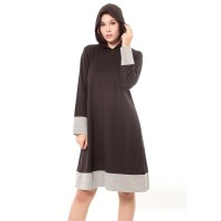 Yoenik Apparel Milena Dress Hoodie Black M14879 R34S6
