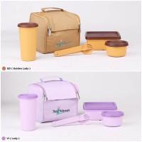 Tas Makan Tupperware - Kotak Makan - Botol Minum - Travel Set MT