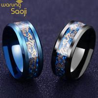 Black Dragon Titanium Ring Men / Cincin pria stainless steel