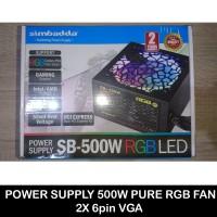 Power Supply Simbadda 500W pure RGB Fan 2x 6pin VGA