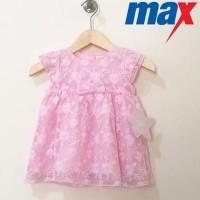 Dress Max Girl Baby Ori Pink Brokat | Dress Pesta Bayi Brokat
