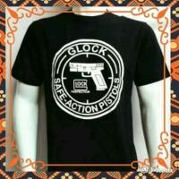Kaos Baju T-shirt Glock Pistol Senjata Kaos Distro