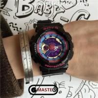 Jam Tangan Casio Baby-G BA-112 1A Black Dial Blue Pink Ori Bm