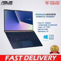 ASUS Zenbook UX433FN-A7601T/7602T i7 8565U/16GB/512SSD/MX150 2GB/W10