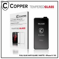 Iphone x/xs - COPPER Tempered Glass Full Glue ANTI GLARE / MATTE
