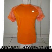 ASICS FuzeX T Shirt Kaos Olahraga Jersey Lari Sport Sepeda Baselayer Q