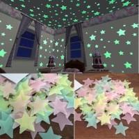 Grosir Dekorasi Wall Sticker Dinding Kamar Bintang/Glow in The Dark