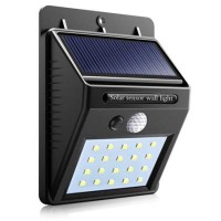 Lampu Solar Sensor Gerak Outdoor 20 LED 460 Lumens Weatherproof Black