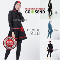 Baju Renang Wanita Muslim Muslimah Dewasa ES-ML-DW Polos - M