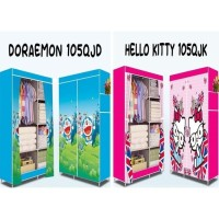 lemari pakaian plastik gantung hello kitty doraemon
