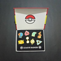 Aksesoris Set Pin Brooch Game Anime Pokemon Badge Hoenn League 1 Set I
