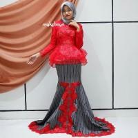 Baju Gaun Dress SET KEBAYA BROKAT ORGANZA ROK DUYUNG