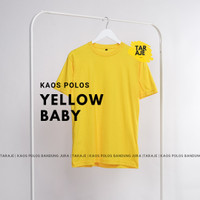 Kaos Polos Baju Oblong Yellow Baby Combed 30's Pria Wanita Unisex