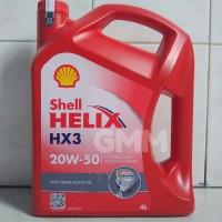 Oli Mesin Mobil Shell Helix HX3 SAE 20W-50 API SL/CF 4 Liter