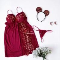 Averie - Hot Sexy Lingerie Satin Dress Babydoll