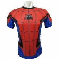 Kaos 3D Spiderman Homecoming Full Print Baju Superhero Anak dan Dewasa
