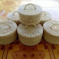 [GROSIR] Keranjang Rotan KOPER BULAT Natural Souvenir Hampers Anyaman