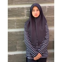 Saudia Jilbab Hijab Hitam Segiempat Kerudung Rawis Voal Square Grosir