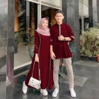 Hijab Murah / Fashion Baju Wanita Pria Sepasang / Couple Farzana Simpl
