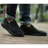 Sepatu Sneaker Adidas Cloudfoam Slip On Man Full Black
