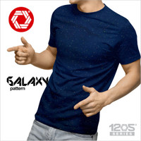 Eclipt Kaos Polos Oblong Pendek Soft Cotton -Tee Premium-Motif Galaxy - Navy Blue, S