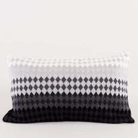 Vinter Cushion 50 x 30 White Grey Black Bantal Rajut Etnik Skandinavia