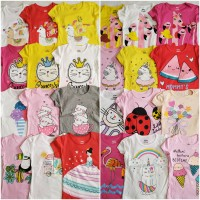 Kaos Anak Baby Victory Motif Cowok dan Cewek - motif cewek, size 1