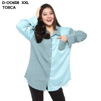 Monellina Fashion Baju Kemeja Atasan XXL Jumbo Murah Wanita 0658