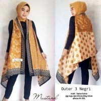 Outer Long Vest - Rompi Panjang Batik Wanita Mustard Katun Halus