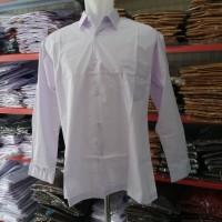 Baju Seragam Sekolah SD, SMP, SMA Kemeja Putih Polos Lengan Panjang