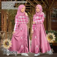 Baju Dress Anak Perempuan Muslim Kids Melody Bahan Balotelli Mix Katun