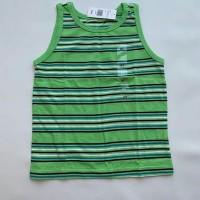 tank top anak cowok peanut & ollie warna hijau motif garis garis