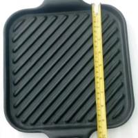 Grill Pan Cast Iron Ori Japan - Alat Panggang Pemanggang BBQ Daging