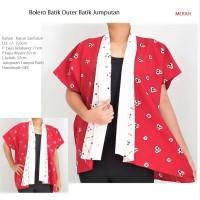 Bolero Batik Outer Batik JUMPUTAN Tumpal Putih HANDMADE ORI