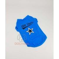 Baju Anjing bahan kaos motif All Star (LCT-011)