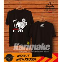 Kaos Baju Mesin Honda C70 Siluet Kaos otomotif - Karimake