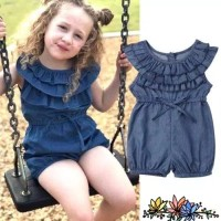 Baju Anak Fashion Biru Navy Jumpsuit Import