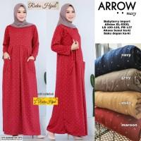baju arrow maxy dress muslim wanita busui simple nyaman santai trendi
