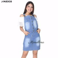 Jumpsuit Jeans Denim Murah Wanita Kekinian 945003 - Biru