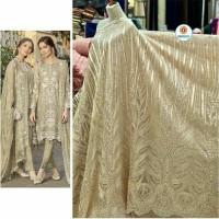 Kain bahan tile brokat terbaru Bahan kebaya dress blouse tile korea